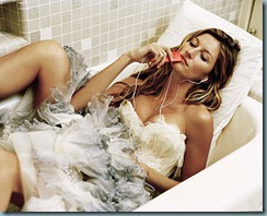 gisele bundchen dans son bain