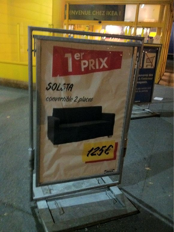 Prix canape convertible IKEA 125 euros