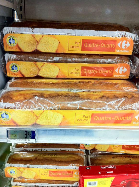 Prix quatre quarts breton pur beurre Carrefour - 800 grammes : 3,73 euros