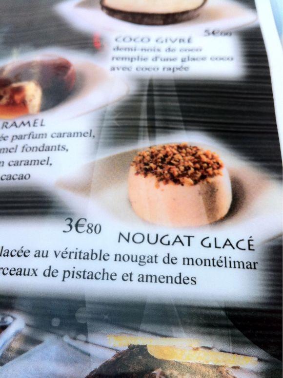 Nougat Glace - 3,80 euros