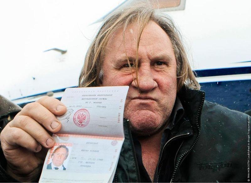 Passeport russe depardieu