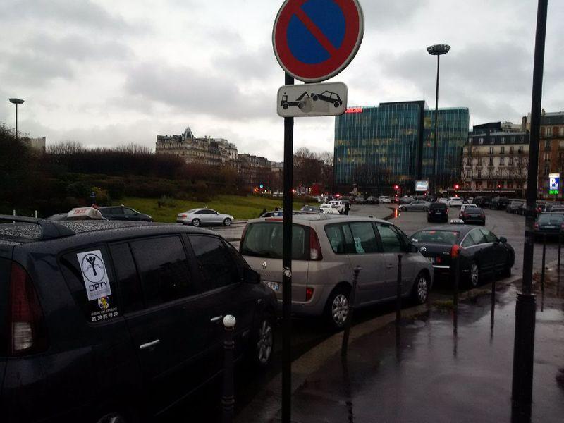 Grève taxis mercredi 27 janvier porte maillot