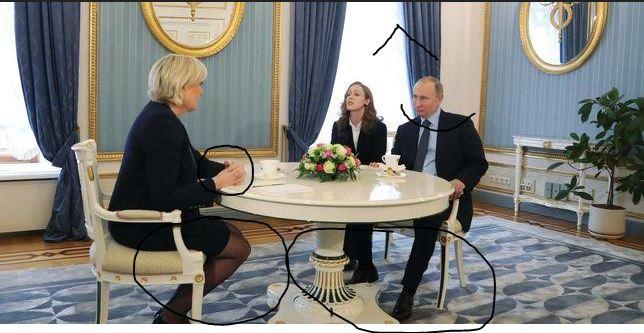 Le pen soumise à Poutine