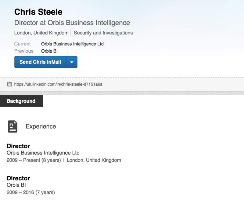 Chris-steele-linkedin scandale trump