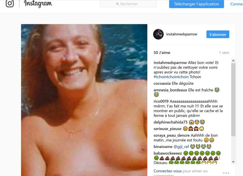 Marine Le Pen seins nus