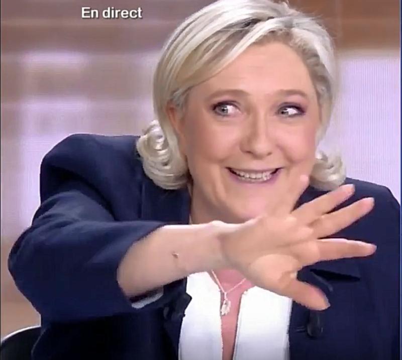 Le Pen dingue pendant le débat