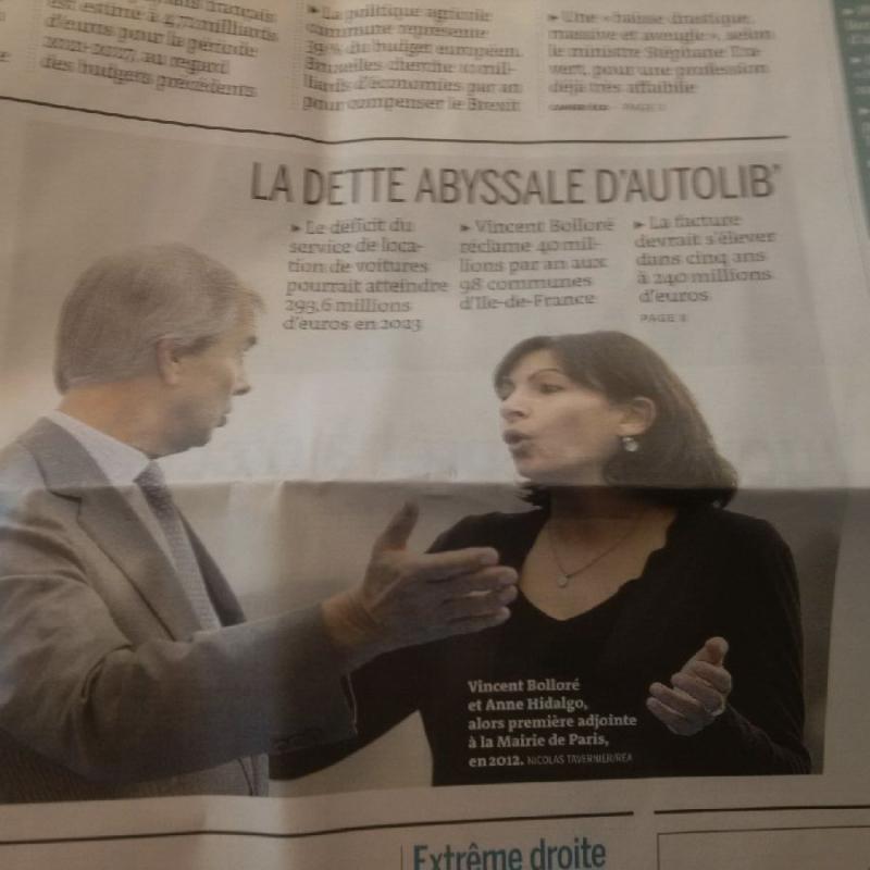 Dette autolib une du Monde