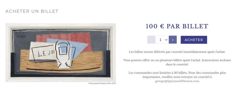 100 euros picasso