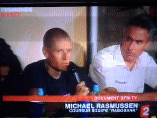 Rasmussen prend son tour ... De dopage ?